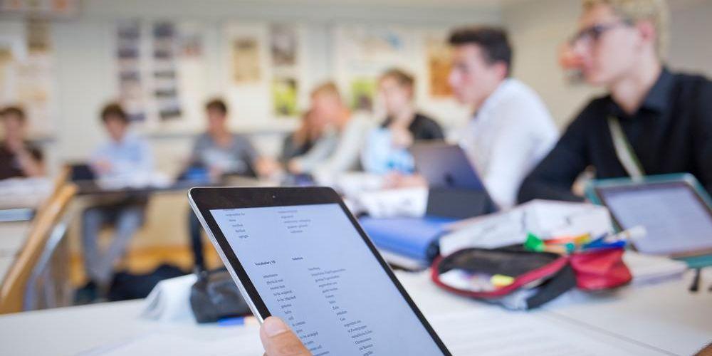 Tablet im Unterricht an der Kantonsschule Frauenfeld